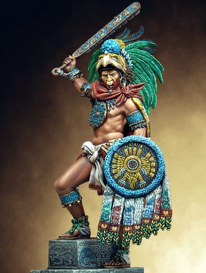 Montezuma II Xocoyotzin (also known as Moctezuma II, Motekosoma, Motecuhzoma or Moteuczoma) was born in 1466 and died 30th of June 1520. He was last Tlatoani (ruler) of Aztec (Mexicas) before arrival of Hernán Cortés and his conquistadors. Montezuma was considered to be absolute monarch – he ruled Aztec people during the period of greatest power and prosperity of city-state Tenochtitlan. During his reign Mexicas' Empire reached its maximal size.
