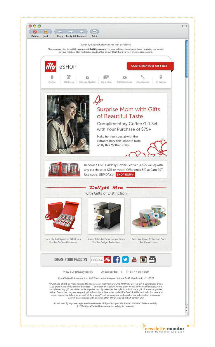 Brand: illy USA | Subject: Give Mom Gifts of Beautiful Taste