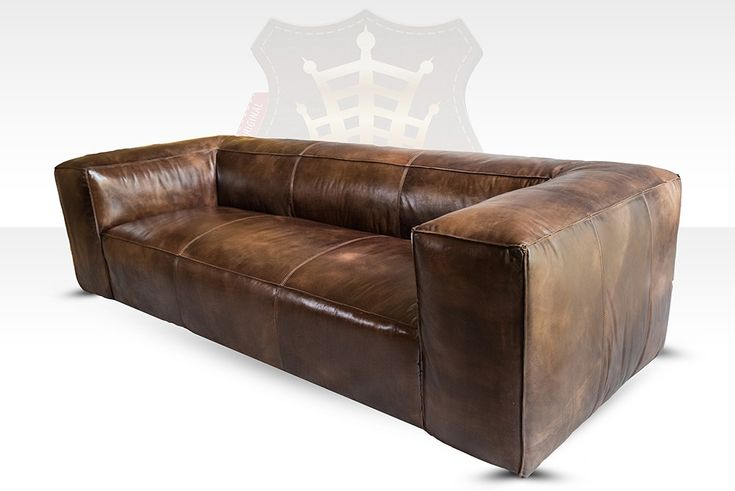 Lounge Sofa Tribeca 3-Sitzer Leder Antique Whisky HALO est 1976