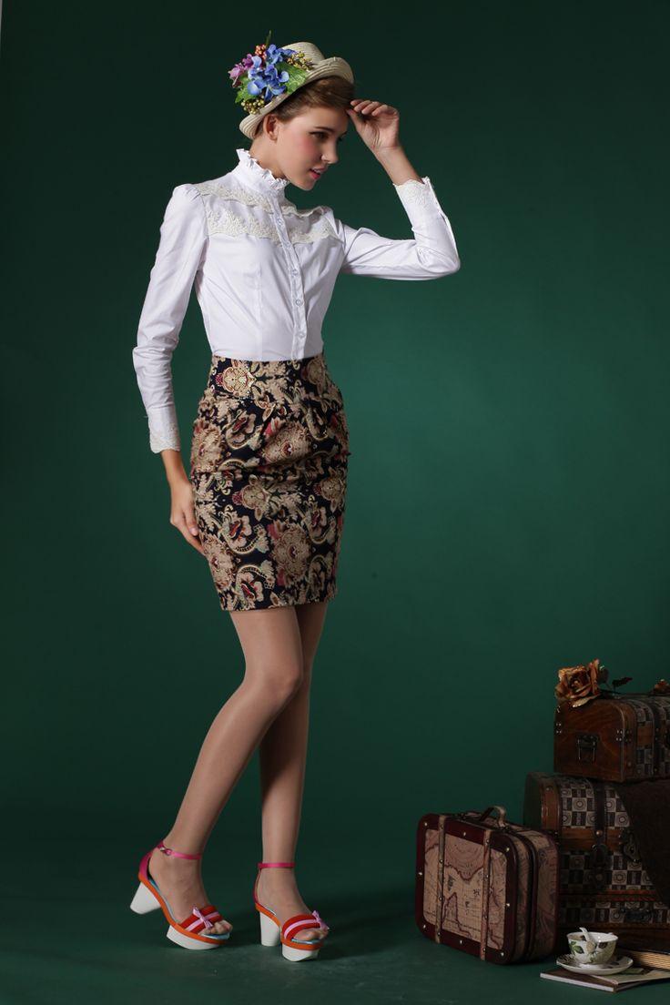 Узкая винтажная юбка выше колена с чем носить, где заказать | The life of one redhead