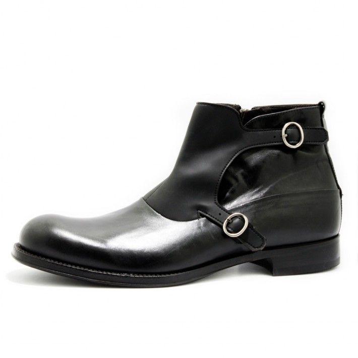 Art. 13/384, Boots in Vitello di colore Nero fodera in Vitello e fondo in Cuoio/Gomma #Mauron1959 #Italy #shoe #man #style #fashion #luxury