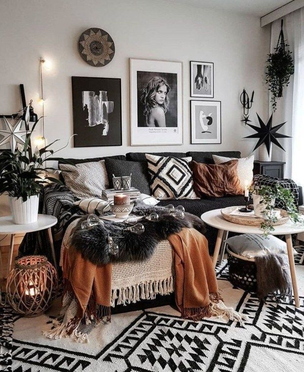 Inspiring Sitting Room Decor Ideas For Inviting And Cozy: 42 Cozy Bohemian Farmhouse Decorating Ideas For Living