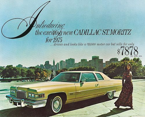 1975 Cadillac St Moritz Postcard By That Hartford Guy Via