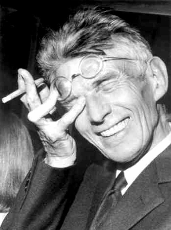 a very rare picture of samuel beckett… maythemusic:  en attendant… rions un peu avec Samuel Beckett
