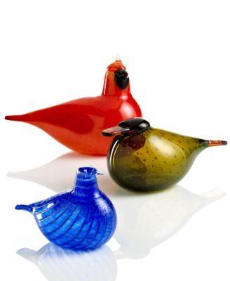 Iittala art glass - toikka birds, Finnish