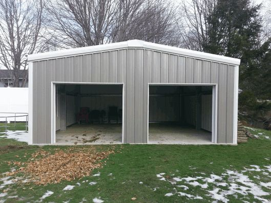 Best 25 prefab garages ideas on pinterest prefab guest for Metal building garage apartment