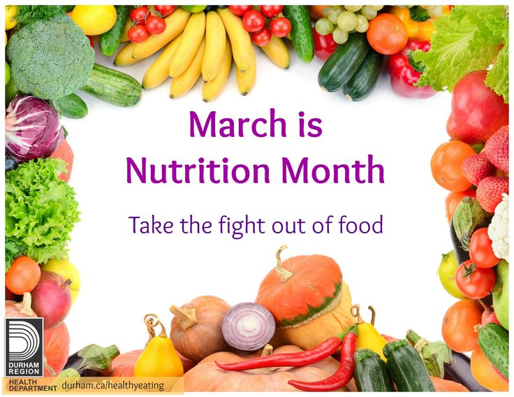 slogan nutrition month National nutrition month® is a nutrition education and information campaign created annually in march by the academy of nutrition and dietetics.