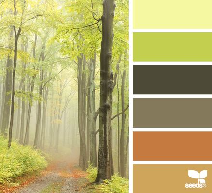 forest hues - green and yellow color palette