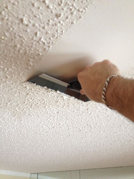 How to remove popcorn ceiling #HomeDecor #HomeDecorTips