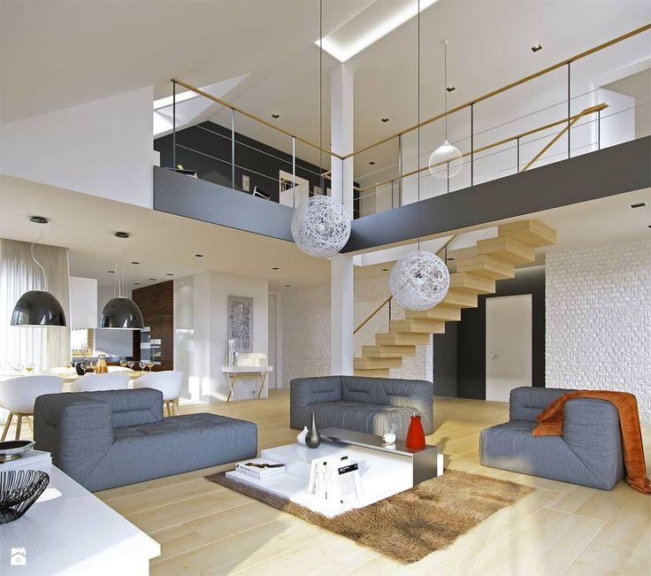 Salon styl Nowoczesny - zdjęcie od DOMY Z WIZJĄ - nowoczesne projekty domów - Salon - Styl Nowoczesny - DOMY Z WIZJĄ - nowoczesne projekty domów