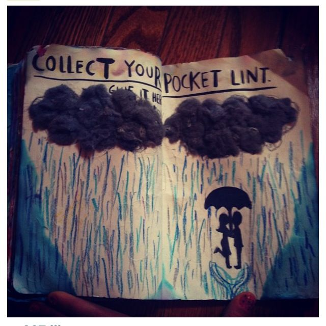 Wreck this journal, collect your pocket lint.