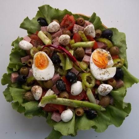 Mediterrán saláta sonkával Recept képpel -   Mindmegette.hu - Receptek