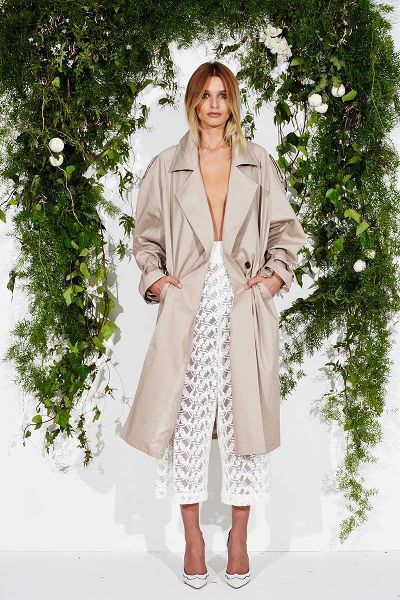 Maurie & Eve Leonardo Trench | ARCHFASHION