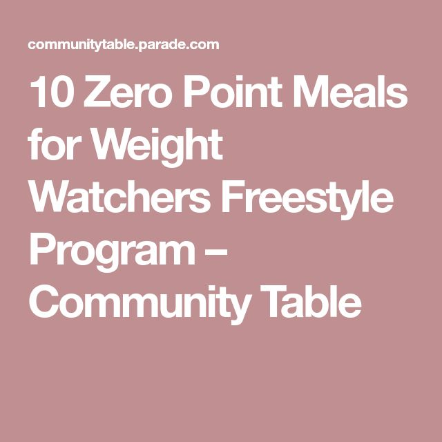 10 Zero Point Meals for Weight Watchers Freestyle Program – Community Table