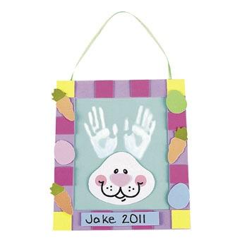 Handprint Easter Bunny Kit from Oriental Trading