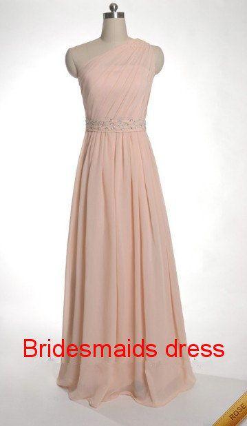 One shoulder Bridesmaid Dress 2013,One shoulder  Paillette chiffon Bridesmaid Dress 2013