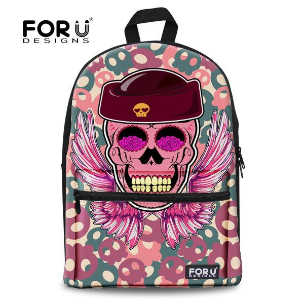 ==> [Free Shipping] Buy Best Cool Neon Punk Girls Backpack Pink Skull Backpack for WomenCasual College Children School Backpack Tourism Backbag Online with LOWEST Price | 32329757223