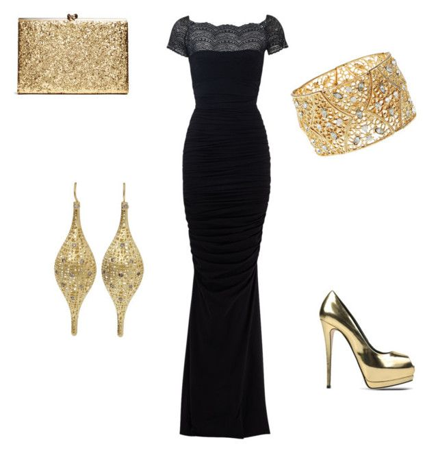 """Gold"" by mandy-martin-1 on Polyvore featuring La Petite Robe di Chiara Boni, Giuseppe Zanotti, Charlotte Russe, Yossi Harari, women's clothing, women's fashion, women, female, woman and misses"