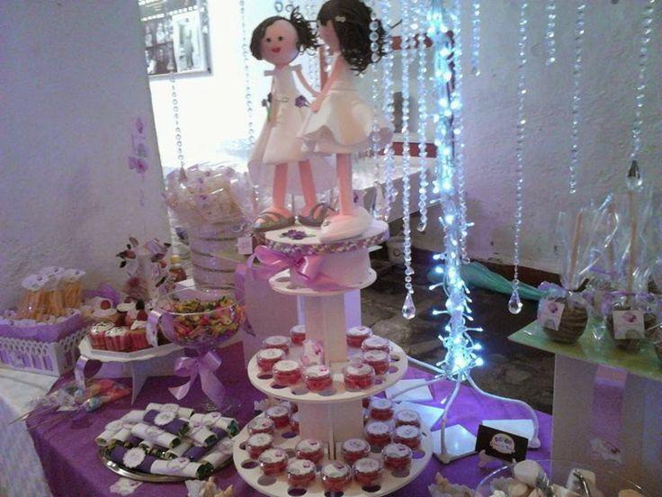 221 best images about mesas de dulces candybar on - Mesa de dulces para boda ...