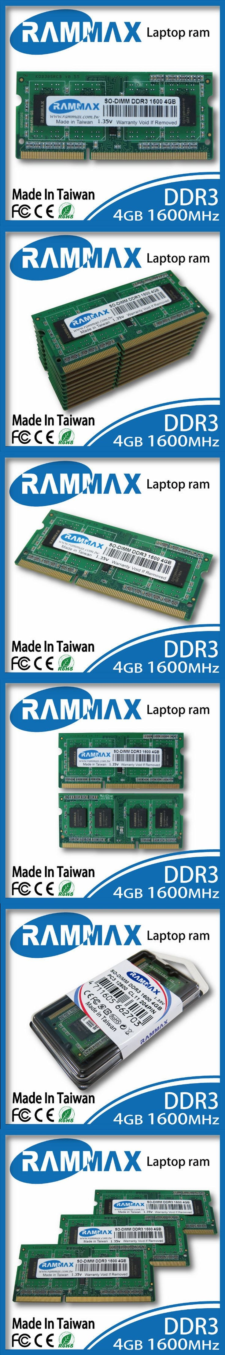 Laptop Ram  Memory 1x4GB DDR3 SO-DIMM1600Mhz PC3-12800 204-pin/ CL11 high compatible with AMD/intel of Notebooks+Free Shipping