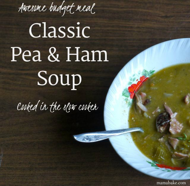 CLASSIC Pea and Ham Soup - in the slow cooker/BIG BATCH.  Flippin' delicious recipe!!