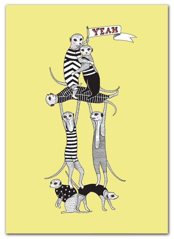 Poster Meerkats - Het Paradijs