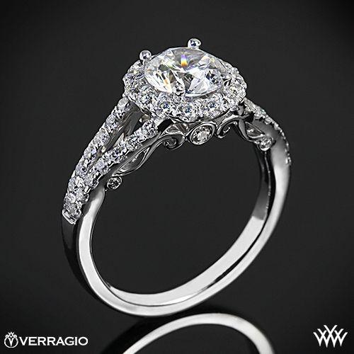 Verragio Split Shank Halo Diamond Engagement Ring #Whiteflash #Verriago