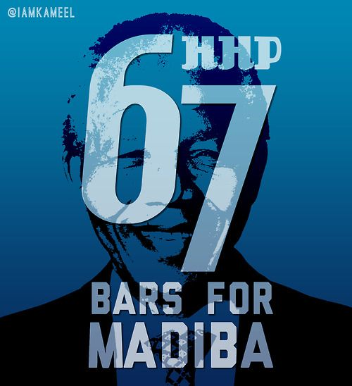 In celebration of Mandela's birthday last year. 67 Bars for Madiba for @HipHopPantsula #EPArtwork #Mandela #MaverickDesign
