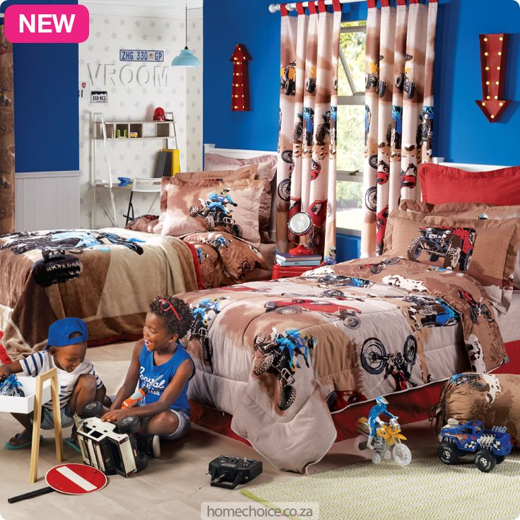 Off Road duvet or comforter set from R399 cash or R39 p/m. Shop http://www.homechoice.co.za/Baby-And-Kids/Boys-Bedding/Off-Road.aspx
