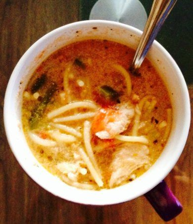 Итальянский суп с кусочками нежной курочки.