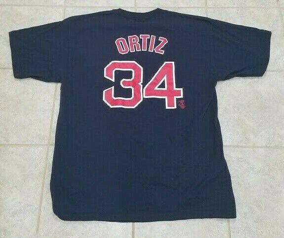 quality design f571d b583b Details about Majestic David Ortiz Boston Red Sox Blue ...