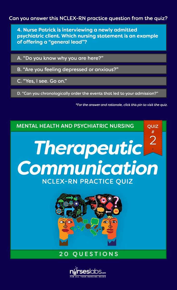 Best 25 nclex rn practice questions ideas on pinterest rn quiz 2 therapeutic communication nclex practice exam 20 questions xflitez Image collections