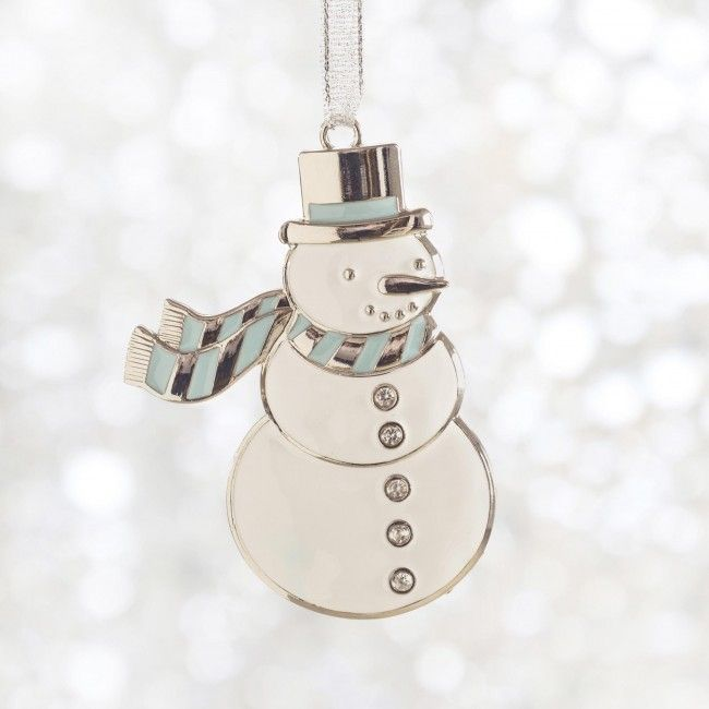 This little snowman won't melt while it decorates your Christmas tree.