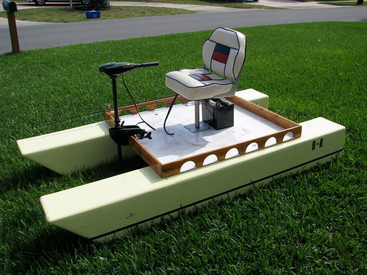 The brothers built two of these electric boats, which nest inside the pontoon boat mothership.