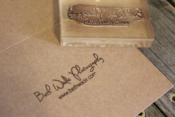 Custom Logo Stamp  1x2 Inches by StandardStampCo on Etsy, $25.00