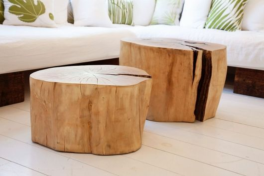 stump coffee tables.