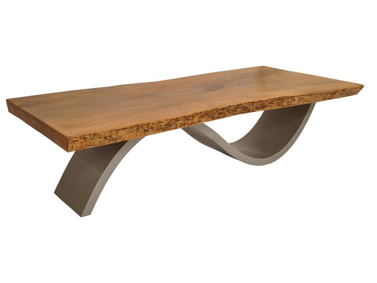 Rotsen Contemporary Solid Reclaimed Wood Coffee Table With Metal Base, Brazilian  Furniture Design, Reused