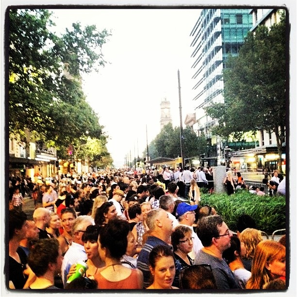 "@adelaidetweet's photo: ""Great crowd for #Adelaide Fringe Parade :D  #adlfringe"""