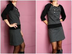 Robe raglan - La cabane d'Elilou   blog couture (Raglankleid de Allerblichst sewing pattern)