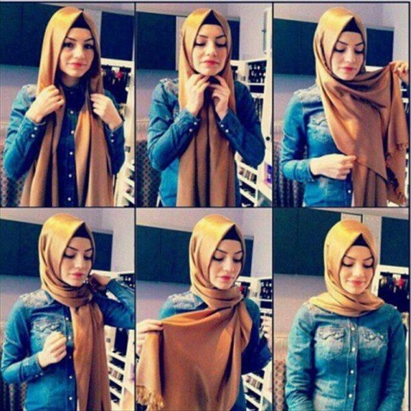 Modern Hijab Styles Step By Step for Prom Girls