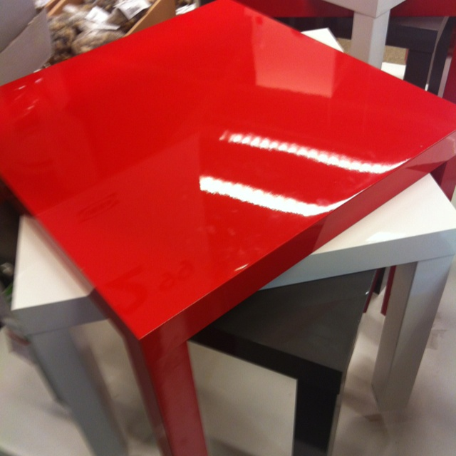 Red Lacquer Table From Ikea My Thing For Glossy Red