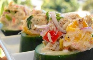 Recept voor gevulde komkommerhapjes   Vers van de Teler