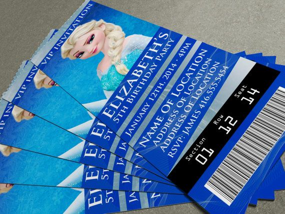 Disney's Frozen Birthday Party/Event Ticket by MapleSyrupDesign, $7.00