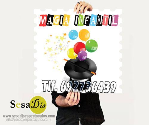 MAGO PARA CUMPLEAÑOS INFANTILES. Mago para niños, mago profesional especializado en magia infantil. Show de magia infantil en el que se entremezclan lo sorprendente de la magia para niños con lo divertido de la parte cómica e interactiva de juegos, el humor y la globoflexia. Contratar mago para eventos: Tlf: 902108422 – 692736439 info@sesadisespectaculos.com www.sesadisespectaculos.com