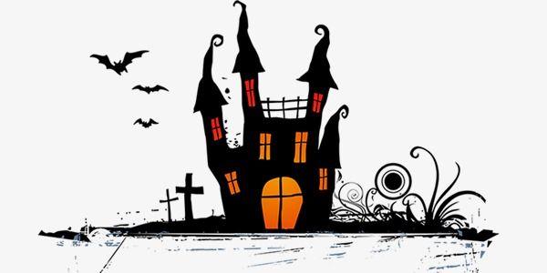 Halloween Haunted House Black Transparent Material Halloween Haunted Houses Halloween Haunt Black House