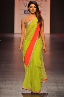 Priyanka Chopra Bollywood Replica Saree