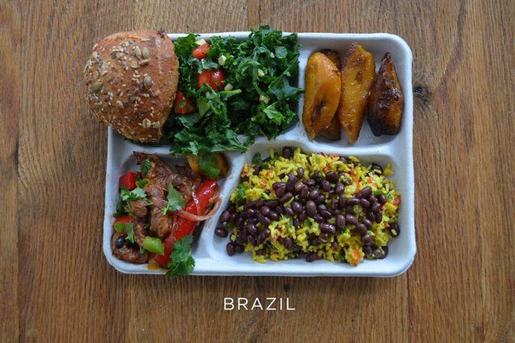 Amerika da öğrencilerin sağlıklı beslenmesine katkı sağlamayı amaçlayan Sweetgreen, farklı ülkelerden okulların öğle arası yemeklerinden oluşan bir fotoğraf serisi hazırladı.