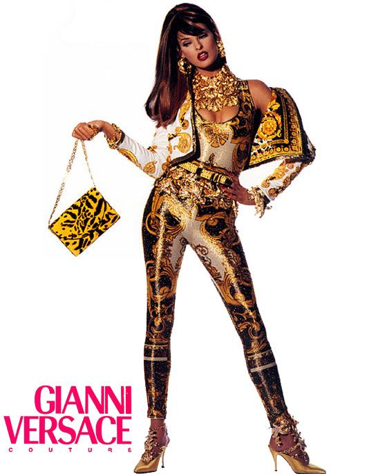 Linda Evangelista Versace Couture Ad 90s baroque 2