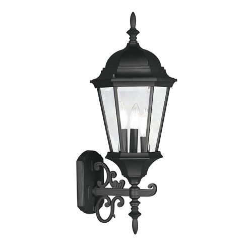 Livex Lighting 7561-04 Hamilton Outdoor Lantern Black Victorian | Bellacor