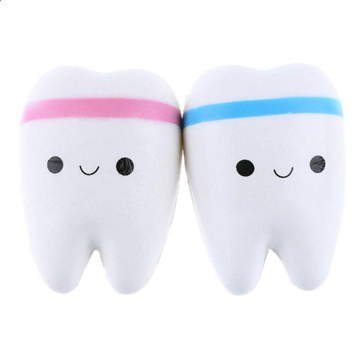 Sanqi Elan 11cm Simulation Cute Teeth Soft Squishy Super Slow Rising Original Packing Ballchain Kid Toy Sale - Banggood.com